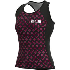 Alé Cycling Solid Helios Tank Top Women black/fluo magenta